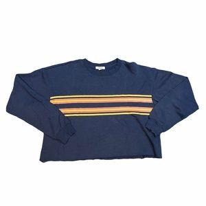 Medium Blue Crop Top Sweater Garage